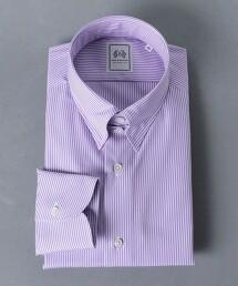 <SOVEREIGN> 細直條紋 襟扣領襯衫