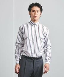 <SOVEREIGN> 花式紗 直條紋 襟扣領 襯衫 日本製