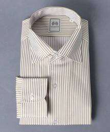 <SOVEREIGN> 紗羅布 直條紋 寬角領襯衫 日本製