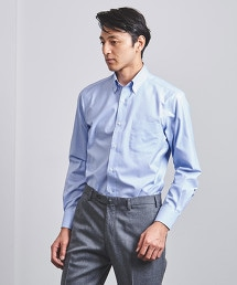 < UNITED ARROWS > EASY CARE 細格紋 釦領襯衫