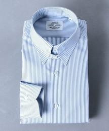 <UNITED ARROWS> EASYCARE 相間直條紋 扣領襯衫