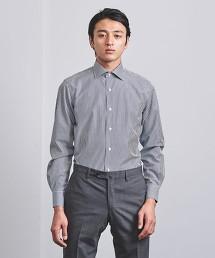 <UNITED ARROWS> EASY CARE 倫敦直條紋 寬角領襯衫