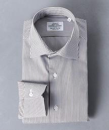 <UNITED ARROWS> EASY CARE  倫敦直條紋 寬角領襯衫 日本製