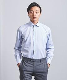 <UNITED ARROWS> EASY CARE 細格紋 寬角領襯衫 日本製