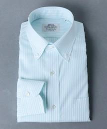 <UNITED ARROWS> EASY CARE 紗羅織物 直條紋 釦領襯衫 日本製