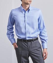 <UNITED ARROWS> EASY CARE 籃球格紋 義式領 釦領襯衫 日本製