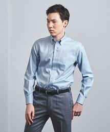 <UNITED ARROWS> EASY CARE 精紡牛津布 釦領襯衫 日本製