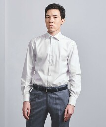 <UNITED ARROWS>EASY CARE 人字紋 寬角領襯衫 日本製