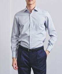 <UNITED ARROWS> EASY CARE 條紋微寬領襯衫