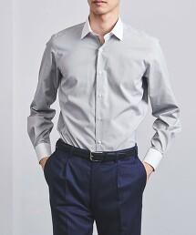 <UNITED ARROWS> EASYCARE 細格紋 寬角領 牧師襯衫
