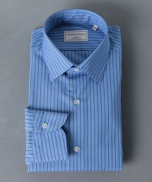 <UNITED ARROWS> EASY CARE 直條紋 寬腳領 襯衫 日本製