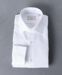 <UNITED ARROWS> EASY CARE 人字呢寬領襯衫 日本製