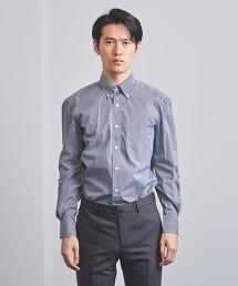 <ERRICO FORMICOLA>極細 小方格格紋 釦領 襯衫