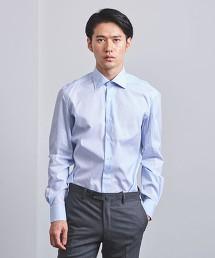 <ERRICO FORMICOLA> 藍色 塔特紗爾格紋 寬角領襯衫