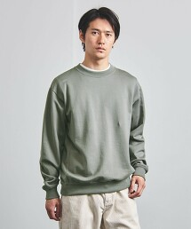 <UNITED ARROWS> 熟成加工純棉 圓領衛衣 日本製