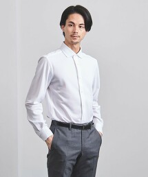 <UNITED ARROWS> EASY CARE 鹿子織 寬角領襯衫 日本製