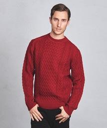 UASB 阿蘭島織 圓領針織毛衣