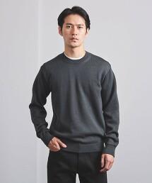 <UNITED ARROWS> 中密織 圓領針織衫日本製