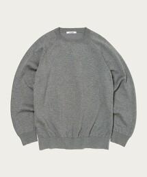 <SLOANE>【特別訂製】12G 二重織 圓領上衣 日本製