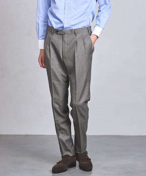 UADT 狩獵俱樂部格紋 雙摺 長褲