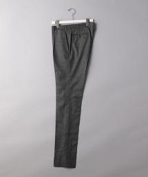 <UNITED ARROWS> 彈性細格紋 1P 錐形褲