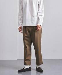 <UNITED ARROWS> WL斜紋織 雙摺 寬褲