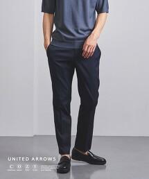 <UNITED ARROWS COZY> 機能 POLY/TIL 無摺 長褲
