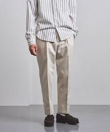 <UNITED ARROWS>不退色 寬版錐形 1摺 牛仔褲