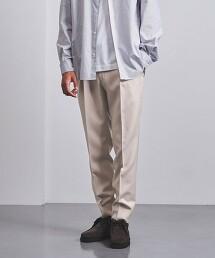 <UNITED ARROWS> 羊毛別丁布料 錐形 1摺長褲