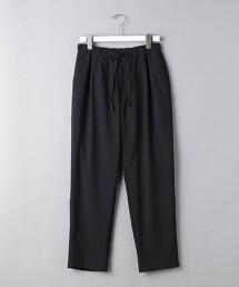<UNITED ARROWS> 聚酯纖維/亞麻 全鬆緊 1摺 輕便褲
