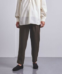 <UNITED ARROWS> 亞麻/聚酯纖維 全鬆緊主廚褲 日本製