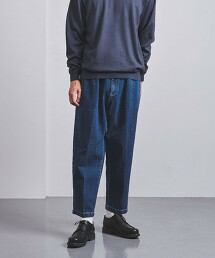 <UNITED ARROWS> 有機棉丹寧布 單摺 寬褲 日本製