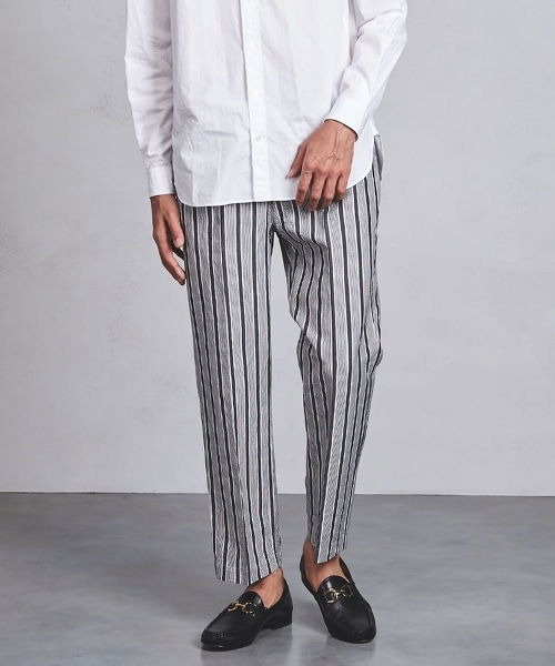 UAST 直條紋輕便寬褲