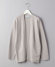 <UNITED ARROWS> 米蘭羅紋 無釦 對襟外套