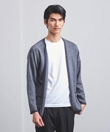 < UNITED ARROWS > 柔滑素材 鑲邊 對襟外套