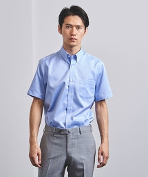 □<UNITED ARROWS> EASY CARE 紗羅織物 釦領 襯衫