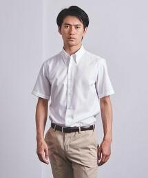 <SOVEREIGN> EAZY CARE 斜紋織 洋裝/釦領 短袖襯衫