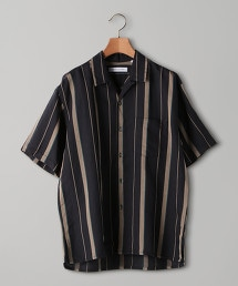 <UNITED ARROWS> 開領 直條紋 襯衫