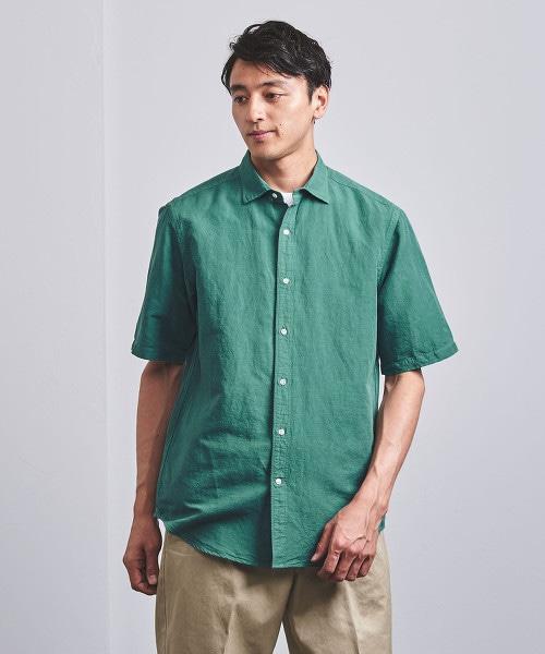 < UNITED ARROWS > 套染半寬角領襯衫