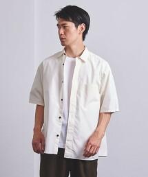 <UNITED ARROWS> 棉/聚酯纖維 府綢 暗門襟短袖襯衫