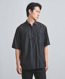 <UNITED ARROWS> 銅氨纖維/棉 標準領 短袖襯衫