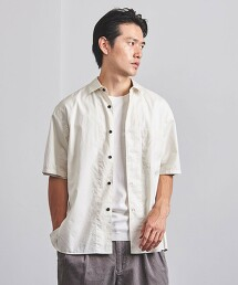 <UNITED ARROWS >  菲尼克斯棉 標準領短袖襯衫