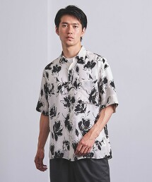 <UNITED ARROWS> 植物印花 標準領襯衫 日本製