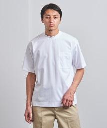 <UNITED ARROWS> 圓領 口袋 T恤