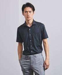 <UNITED ARROWS> 寬領短袖襯衫