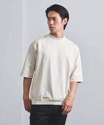 <UNITED ARROWS> 高密織 5分袖厚棉T恤