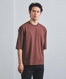 <UNITED ARROWS> 羅馬布 5分袖T恤