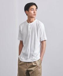 <UNITED ARROWS>  SUVIN/SAPPHIRE 亨利領 短袖 T恤 日本製