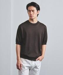 <UNITED ARROWS> 苧蔴/聚脂纖維 針織 T恤