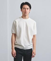 <UNITED ARROWS> 棉/壓克力纖維 鹿子織 圓領T恤 日本製